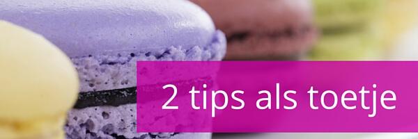 2 tips als toetje