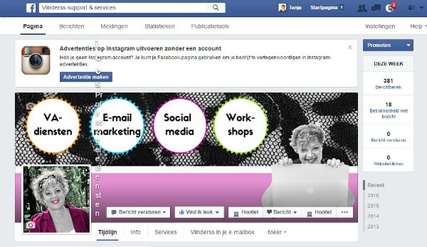 FB pagina delegeren stap 1