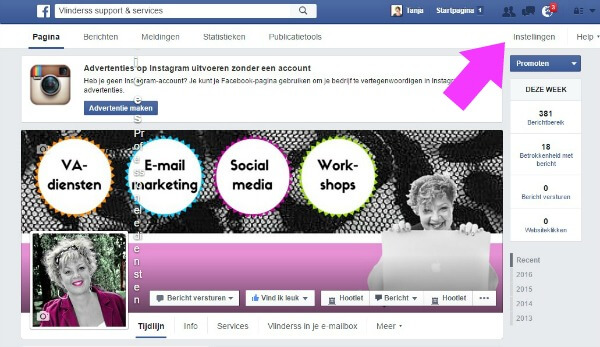 FB pagina delegeren stap 2