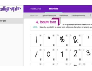 Maak je eigen lettertype