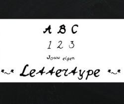 jouw eigen handschrift als lettertype