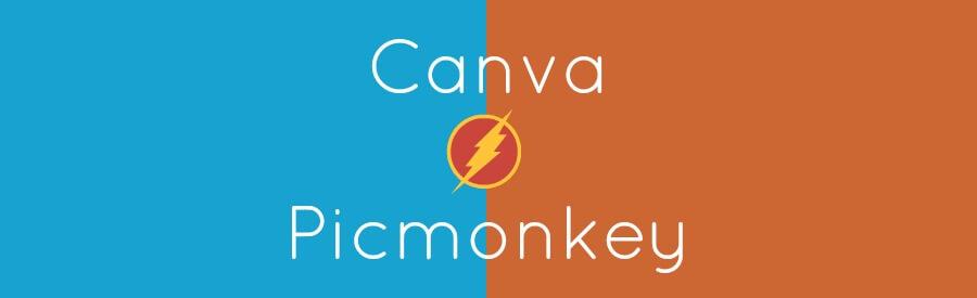 Twee fotobewerkingstools naast elkaar: Picmonkey en Canva