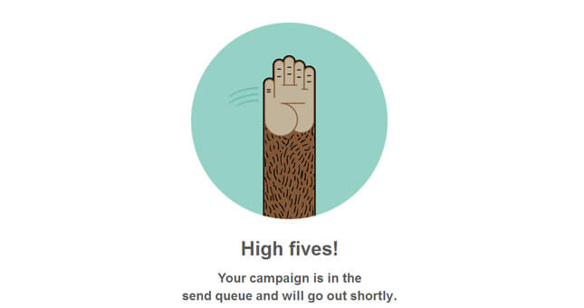 High Fives MailChimp