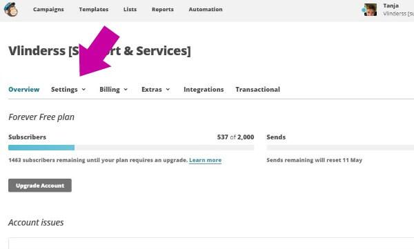 Hoe voeg ik een gebruiker toe aan Mailchimp 2