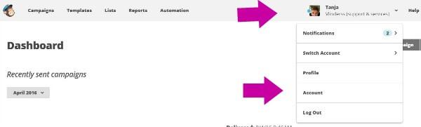 gebruiker toevoegen aan Mailchimp stap 1