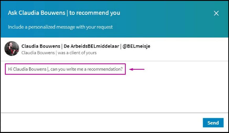 Aanbeveling vragen LinkedIn (1)