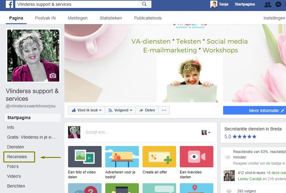 facebook aanbeveling vragen en geven