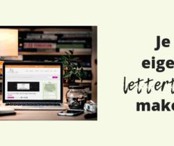je eigen lettertype maken